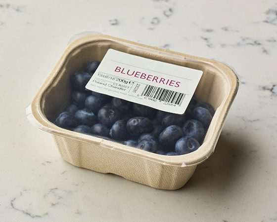 Pulp Tray Sealed Blueberries